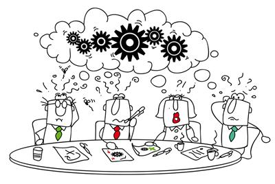 greg bustin how does character drive accountability? cartoon image of team working together