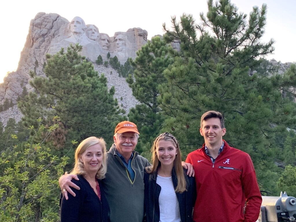 The Bustin Family at Mount Rushmore